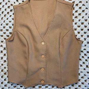 Vintage 80s women's vest beige